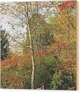 Blanket Of Leaves Wood Print