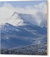 Blizzard Peak Wood Print