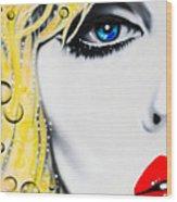 Blondie Wood Print by Alicia Hayes