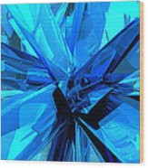Blue Abstract Wood Print