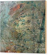 Blue Bamboo Wood Print