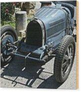 Blue Bugatti Oldtimer Wood Print