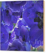 Blue Dream Floral Wood Print