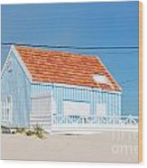 Blue Fisherman House Wood Print
