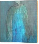 Blue Lady Wood Print