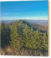Blue Ridge Mountains North Carolina Wood Print