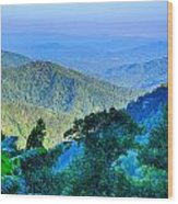 Blue Ridge Parkway National Park Sunset Scenic Mountains Summer  Wood Print