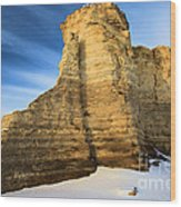 Blue Skies At Monument Rocks Wood Print