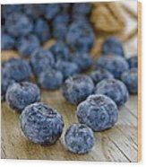 Blueberry Bag Wood Print
