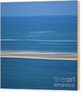 Blurred Sea Wood Print