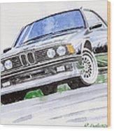 Bmw E23 Wood Print