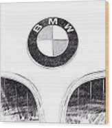 Bmw Z3 Emblem In Black Wood Print