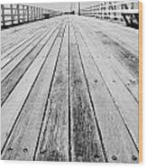 Boardwalk Of Distance Wood Print