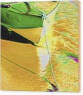 Boat Abstract Wood Print