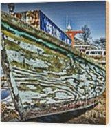 Boat Forever Dry Docked Wood Print