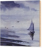 Boat Wood Print by Sam Sidders