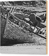 boat wreck on bunbeg beach in gweedore gaeltacht county Donegal Republic of Ireland Wood Print
