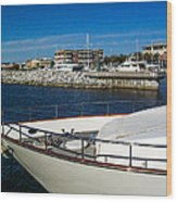 Boats In Port Wood Print