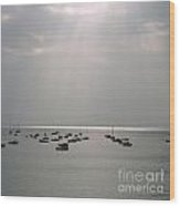 Boats In The Sea. Normandy. France. Europe Wood Print