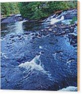 Bog River Falls Wood Print