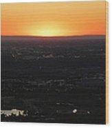 Boise Id Sunset Wood Print