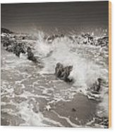 Bolonia Waves Wood Print