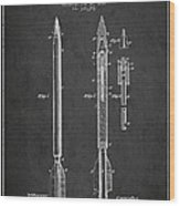 Bomb Lance Patent Drawing From 1885 Wood Print by Aged Pixel