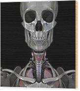 Bones Of The Head Wood Print