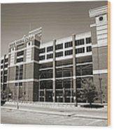 Boone Pickens Stadium Wood Print