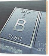 Boron Chemical Element Wood Print