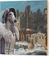 Borzoi - Russian Wolfhound Art Canvas Print Wood Print