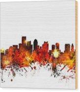 Boston Massachusetts Skyline Wood Print by Michael Tompsett