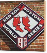 Boston Red Sox 1912 World Champions Wood Print
