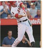 Boston Red Sox V Los Angeles Angels Of 1 Wood Print
