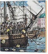 Boston Tea Party, 1773 Wood Print by Granger