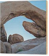 Boulders In A Desert, Joshua Tree Wood Print