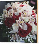 Bouquets Of Flowers For The Bride To The Wedding Wood Print