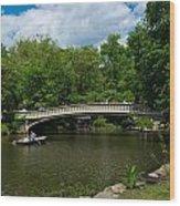 Bow Bridge Central Park Wood Print