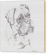 Boxer - Clue Wood Print