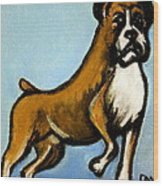 Boxer Wood Print by Pete Maier