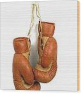 Boxing Gloves Wood Print