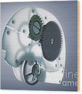 Brain Mechanism Wood Print