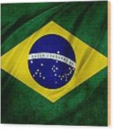 Brazilian Flag Wood Print