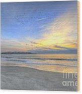 Breach Inlet Sunrise Wood Print