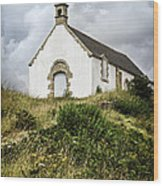 Breton Church Wood Print