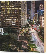 Brickell Ave Downtown Miami  Wood Print