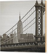 Bridge From The Bridge Wood Print