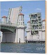 Bridge Of Lions St Augustine Florida Wood Print