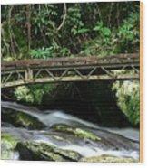 Bridge Over Mountain Stream Wood Print