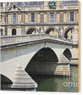 Bridge Over The Seine Wood Print